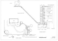 ✩ Check out this list of creative present ideas for beginners and freaks who are into fitness Landscape Drawings, Landscape Walls, Landscape Design Plans, Landscape Architecture, Outdoor Projects, Garden Projects, Ha Ha Wall, Plan Sketch, Construction Drawings