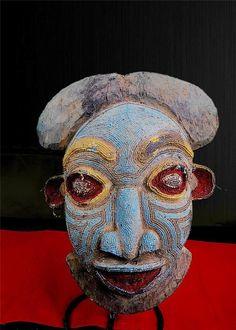 Fine Tribal Bamileke Beaded Mask Cameroon   eBay