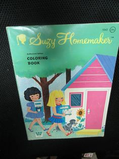 Whitman 1960's Vintage Suzy Homemaker Coloring Book by kookykitsch