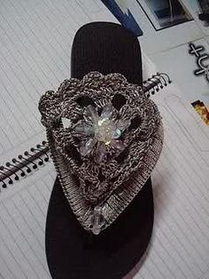 Sandalias Decoradas | sandalias decoradas a crochet, PAP