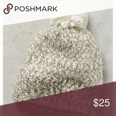 Anthropologie tinsel beanie with pom NWT Brand new, super cute Anthropologie Accessories Hats