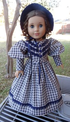 Mid 1800's Dress and Bonnet for Marie Grace by Designed4Dolls on Etsy    $26.95