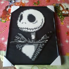 Jack Skellington hama perler beads by bivi34