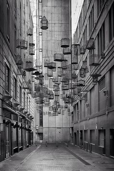 """The forgotten songs "" installation by michael thomas hill. sydney, australia."
