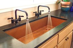 Love the double hot/cold faucets.