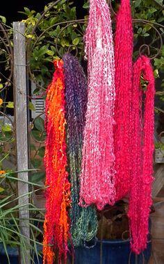 Yarns by Natalie Redding of Namaste Farms Spinning Wool, Textile Fiber Art, Art Yarn, Chunky Yarn, Knitting Yarn, Namaste, Yarns, Needlework, Knit Crochet