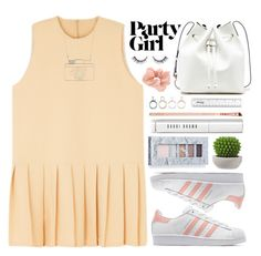 """""""Party girl"""" by mejola ❤ liked on Polyvore featuring adidas Originals, Sole Society, Bobbi Brown Cosmetics, jane, Accessorize, women's clothing, women, female, woman and misses"""