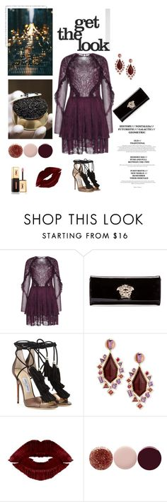 """""""# Date night"""" by linefreh ❤ liked on Polyvore featuring Versace, Jimmy Choo, Stephen Webster, Nails Inc., Yves Saint Laurent, women's clothing, women, female, woman and misses"""