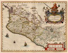 Mapa de la Nueva Galicia