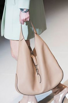 Rich tan leather. Runway bags at Milan Fashion Week Fall 2014 #MFW