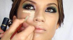 Colorful Make up using: Lila,Pink,Green by Visagiste Rafika