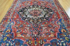Collectible Gorgeous Tribal Genuine Persian Rug. Wear to pile due to age. Please scroll down for more photos and detailed description of the rug. We took photos from both ends of the rug.<br/><br/>6'8 ft x 9'5 ft Charming Colors 1940s Genuine Antique Persian Bakhtiari Hand Knotted Rug. Wear to pile due to age. For questions please contact 516.607.0070 PLEASE SEE ALL PICTURES PHOTOS IMPORTANT PART OF THE DESCRIPTION. WE TRY TO TAKE PHOTOS OF THE RUGS AS ...