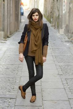 Navy + Brown