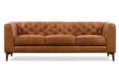 Essex Sofa in Cognac Tan Unique Furniture, Sofa Furniture, Furniture Design, Furniture Ideas, Furniture Movers, Furniture Companies, Furniture Inspiration, Luxury Furniture, Office Furniture