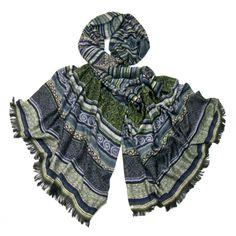 écharpe tissée motifs noir vert  Palme http://www.mesecharpes.com/etoles/etole-fantaisie/etole-noir-et-gris-bandes-motifs-palme.html