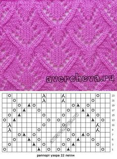 Knitted pattern with knitting font – knitting charts Lace Knitting Stitches, Lace Knitting Patterns, Knitting Charts, Lace Patterns, Easy Knitting, Knitting Designs, Stitch Patterns, Knitting Ideas, Easy Crochet