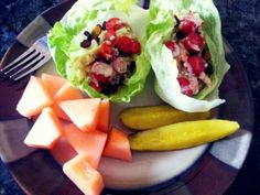 Yummy lunch for summer!! Lettuce wraps are a great alternative to sandwiches. They can remove over 200 calories from your meal!!