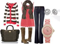 pink and brown by sandreamarie, via Polyvore