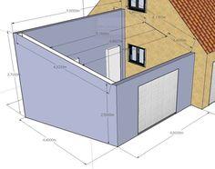 Parking Plan, Plan Garage, 20 M2, Construction, Outdoor Furniture, Outdoor Decor, Outdoor Storage, Toy Chest, Storage Chest