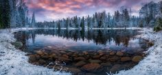 Crispy Winter Morning by Lauri Lohi on Finland Landscape Photography, Nature Photography, Tree Wallpaper, 1080p Wallpaper, Desktop Wallpapers, Snowy Day, Nature Images, Nature Reserve, Winter Landscape