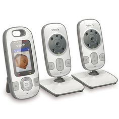VTech Safe&Sound Full Color Video & Audio Baby Monitor with 2 Cameras - VM312-2