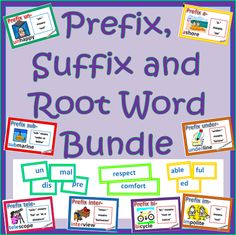 This is literally like having ten games in one pack. It has three sets of cards. Prefix cards, Suffix Cards, and Word Building Cards for Root Words Teaching Time, Teaching Reading, Teaching Ideas, Learning, Teaching Activities, Guided Reading, Teaching Language Arts, Classroom Language, Teaching Vocabulary