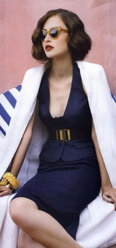 I love navy blue..... by Vogue Australia!""