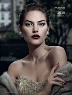 Catherine McNeil for Printemps Christmas Magazine- ugh, I need this look immediately! LOVE.