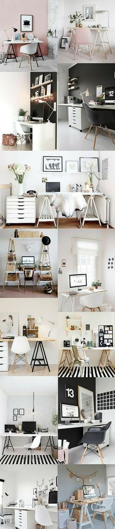 HOME OFFICE: Clarinho e Minimalista