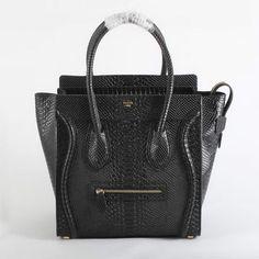 Celine Luggage Bags Jumbo in Snake Veins Black [Celine-244] - €235