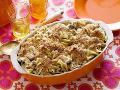 ***Turkey Noodle Casserole Recipe ~ Rachael Ray via Food Network Egg Noodle Recipes, Egg Recipes, Chicken Recipes, Cooking Recipes, Yummy Recipes, Dinner Recipes, Recipies, Yummy Food, Tasty