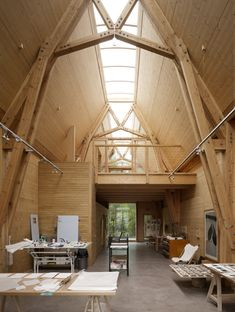 brilliant.Duncan Baker-Brown on a working showcase for sustainable timber construction in Sussex. Photos: Paul Riddle.