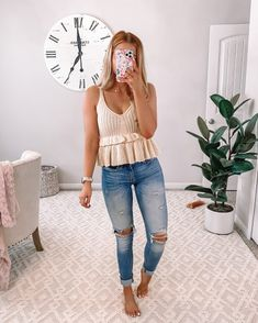 Boho Summer Outfits, Spring Fashion Casual, Winter Fashion Outfits, Cute Casual Outfits, Simple Outfits, Pretty Outfits, Spring Outfits, Women's Casual, Denim And Lace