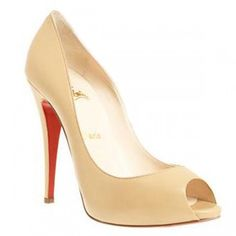 Christian Louboutin Lady Claude - Beige-I have these in nude and love them!