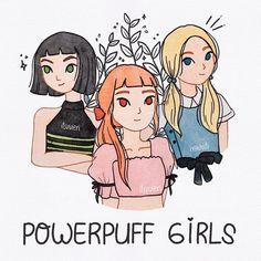 "vivie °◡° on Instagram: ""The Powerpuff Girls! 💚💗💙"""