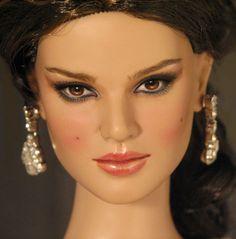 Custom repaint of Natalie Portman Beautiful Barbie Dolls, Doll Repaint, Natalie Portman, Barbie And Ken, Fashion Dolls, Poppies, Royalty, Barbies Dolls, Celebrities