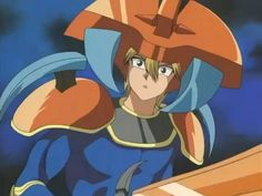 """Yami Yugi to reuse the previous Magic Card """"Monster Reborn"""" to bring back Joey. When resurrect, he gets this funny look of surprise :-)"""