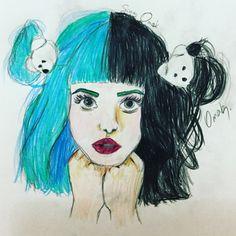 Melanie Martinez drawing by: Instagram account: @its.silvermoon