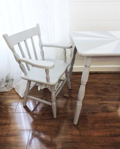 children 39 s dining set makeover one of my latest furniture makeovers