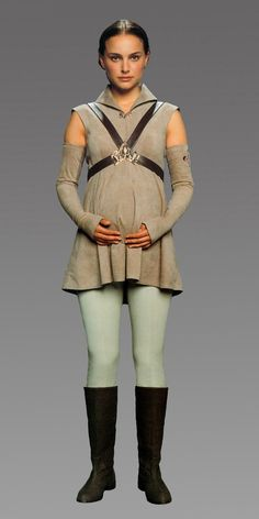 Star Wars - Nathalie Portman as Padmé Amidala Star Wars Padme, Amidala Star Wars, Star Wars Rebels, Costume Padme, Costume Star Wars, Queen Amidala Costume, 50s Costume, Hippie Costume, Pregnancy Costumes