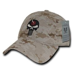 Camo Punisher Skull Military Navy Seal Special Forces Polo Baseball Hat Cap 4659e104a575