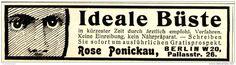 Original-Werbung/ Anzeige 1909 - IDEALE BÜSTE - ROSE PONICKAU - BERLIN - ca. 90 x 25 mm