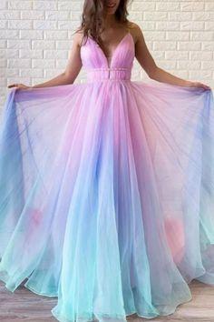 Lady Maxi Beach Dress Summer Rainbow Color Voile Backless Suspender Dress V-Neck Bohemian Dresses Women Sexy Big Hem Dress Dresses Elegant, Beautiful Prom Dresses, Pretty Dresses, Sexy Dresses, Formal Dresses, Long Dresses, Awesome Dresses, Casual Dresses, Dresses Uk