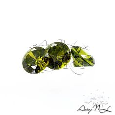 10pcs AAAAA 3mm Dark Olive Cubic Zirconia Round Shape by AoryNL