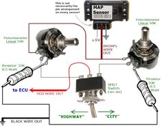 Engine Working, Car Ecu, Map Sensor, Electrical Wiring Diagram, Circuit Diagram, Technical Drawing, Electronics Projects, Motor Car, Technology