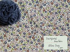 Liberty fabric in light navy, olive, pale smoky mauve, aubergine, treacle toffee & yarn in navy (Posy gets Cozy blog)
