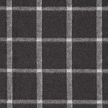 Wollstrick kleine Karos 2 – schwarz - Wollstoffe- stoffe.de