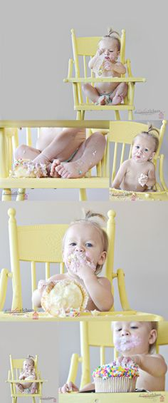 LOVED doing this cake smash sesh. So much fun and sweet Em loved her cake! http://www.taylorelchertphotography.weebly.com