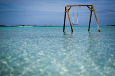 Swingsets were built on Coco Plum Beach in Great Exuma, the Bahamas, one of the festival's staging areas Exuma Bahamas, Bahamas Vacation, Italy Vacation, Pig Island, Places To Travel, Places To Visit, Great Exuma, Celebrity Cruises, Future Travel