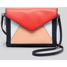 Rebecca Minkoff Crossbody - Marlowe Mini Colorblock (420 BRL) ❤ liked on Polyvore featuring bags, handbags, shoulder bags, mini crossbody purse, red purse, mini crossbody, purse crossbody and handbags shoulder bags